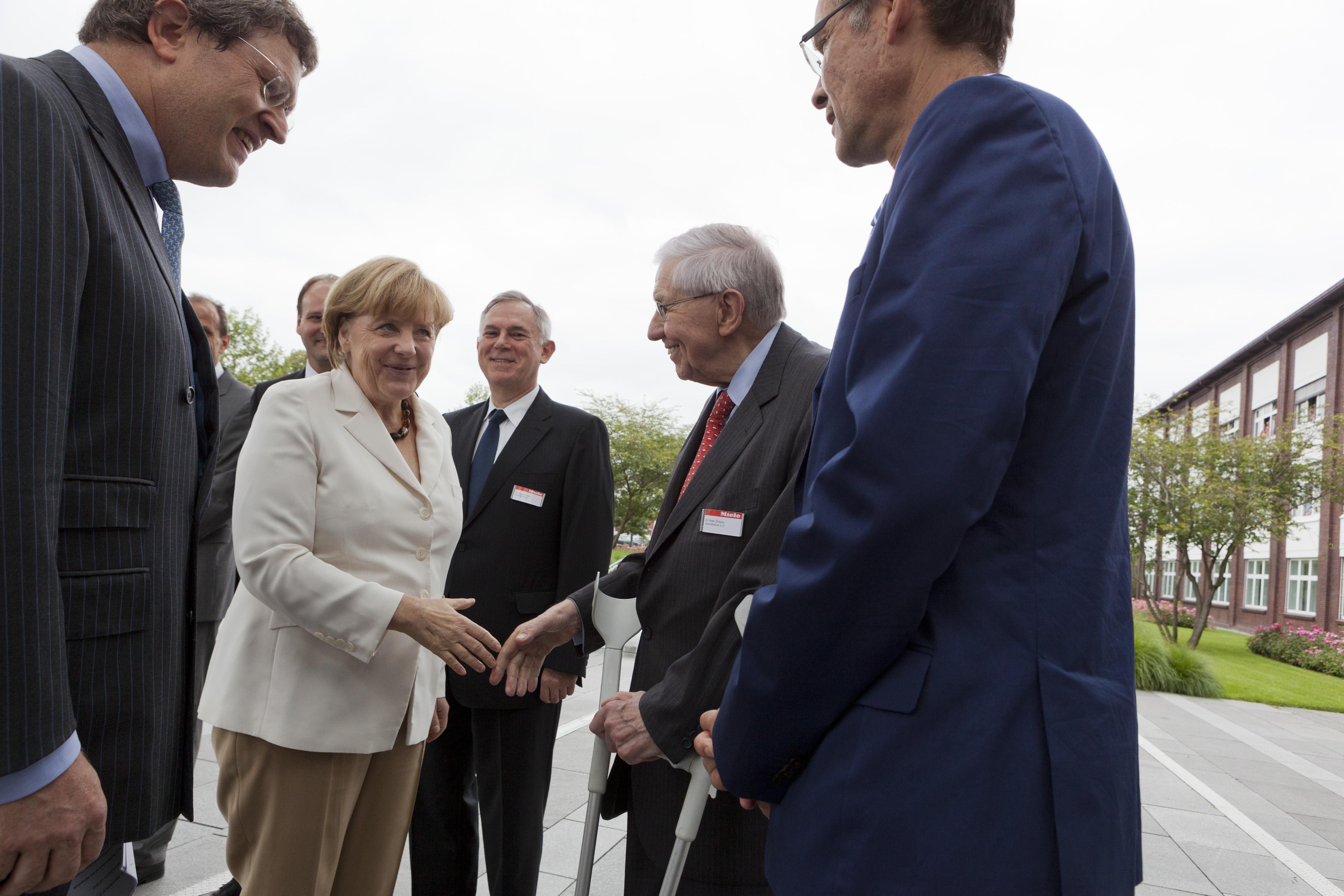 Merkel bei Miele